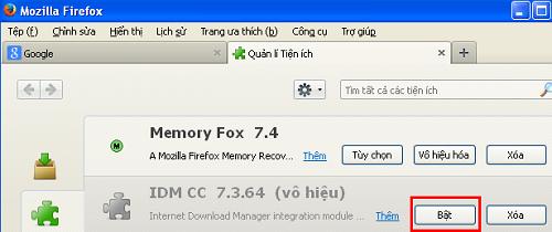 Cách thêm IDM vào FireFox  d
