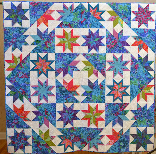 Winter Jewels Took 1st Prize in Computerized Quilting