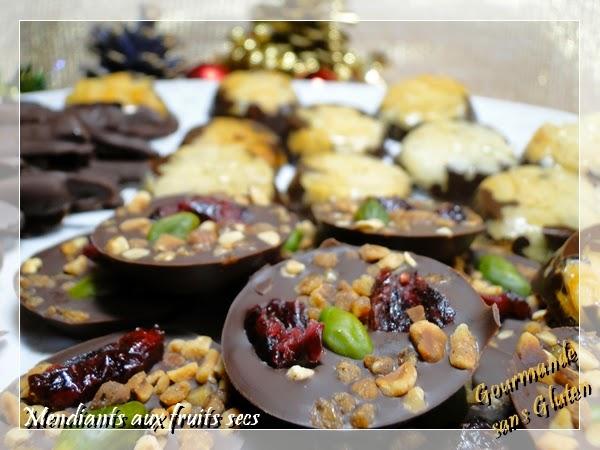 mendiants chocolats fruits secs