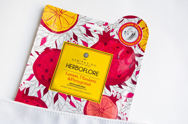 Levitasion Herboflore Lemon, Mandarin & Pomegranat маска для лица выравнивающая тон