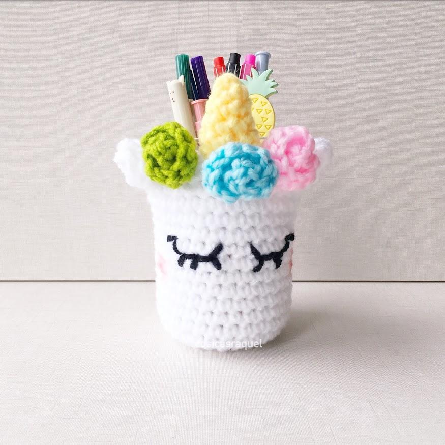 cosicasraquel: Funda Unicornio a Crochet