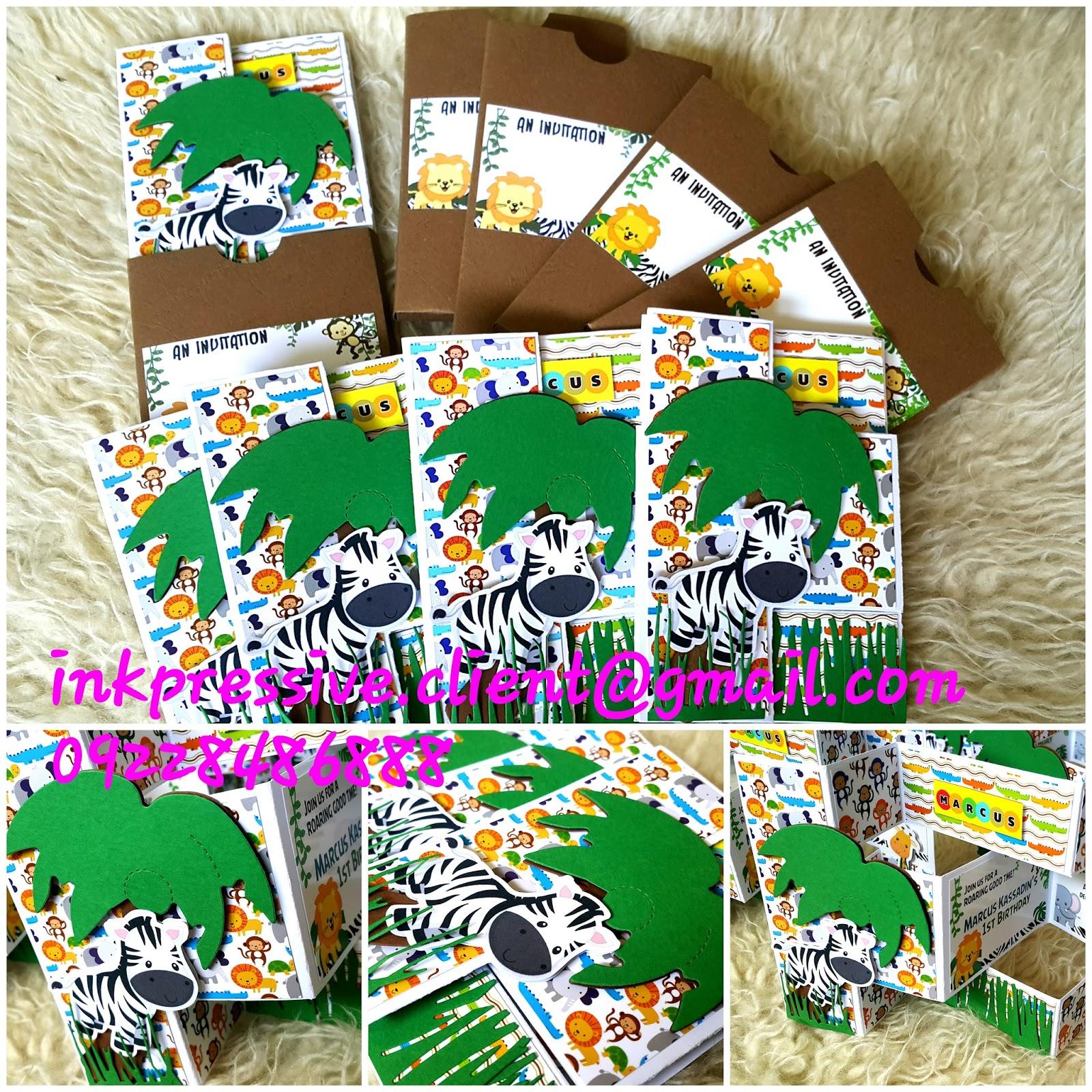 safari themed birthday invitation in trishutter card style kiddie