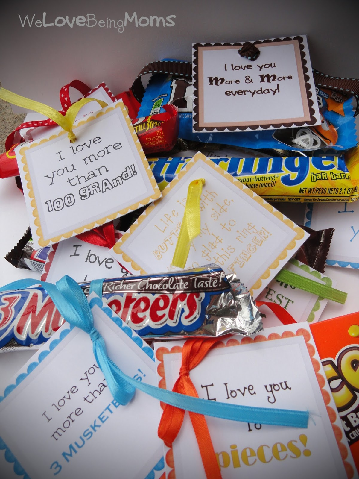 we love being moms candy bar sayings