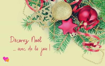 Décorez Noël avec de la joie