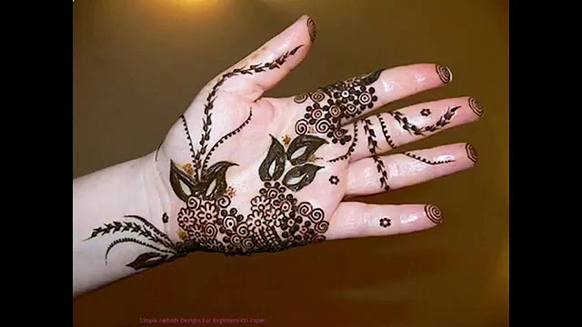 Simple Mehndi Designs for left hand palm