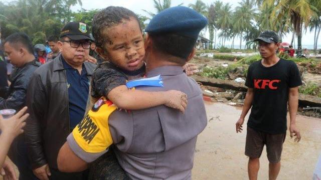 Korban Tsunami Banten, Bocah 5 Tahun Ditemukan Selamat Tertimbun Puing Kayu