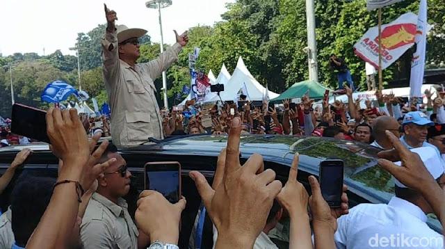 Kampanye Akbar Selesai, Prabowo Tinggalkan GBK