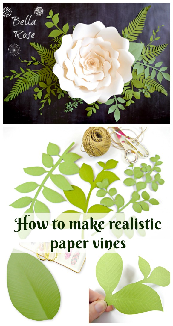 Paper vines how to make paper leaves and vines how to make realistic paper vines and leaves diy paper flowers paper crafts mightylinksfo