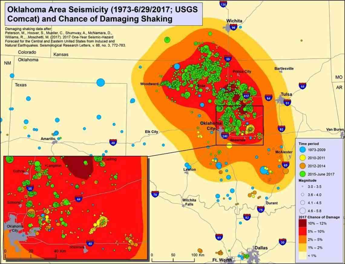 oklahomas earthquakes strongly linked to wastewater injection depth