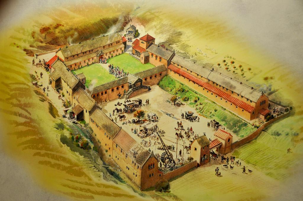 The Disorganised Author: Chedworth Roman Villa