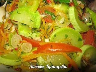салат кабачков морковью луком