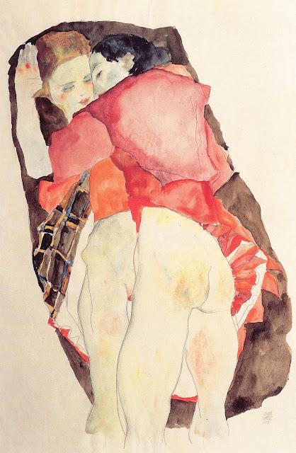 Egon Schiele: Due ragazze