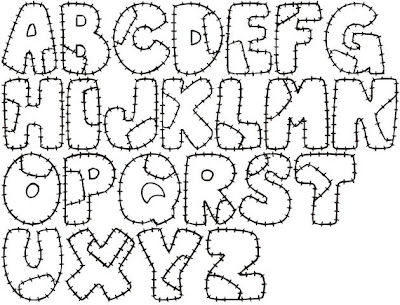 Molde de Letras - Letras costuradas