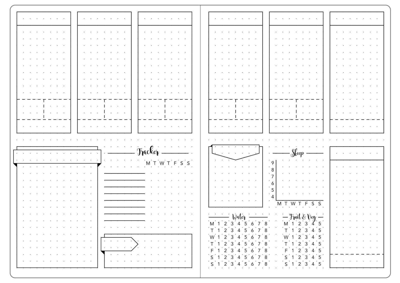bullet journal template pdf » Best Free Fillable Forms   Free ...