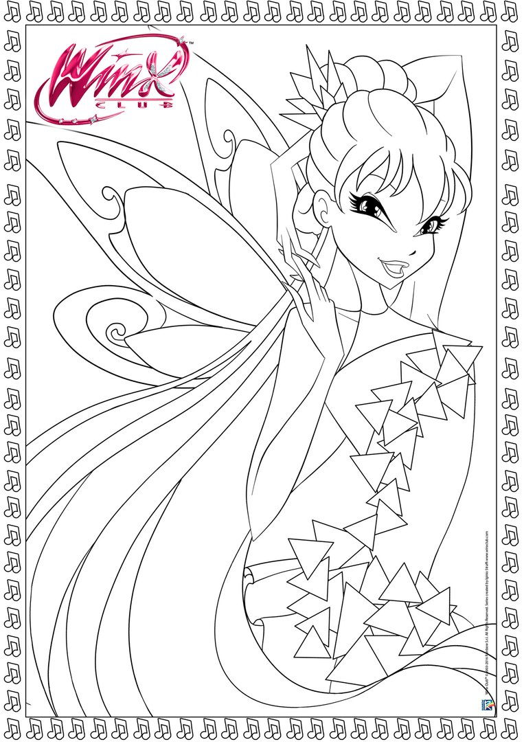 New Winx Club Tynix Official Coloring