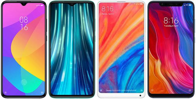 Xiaomi Mi 9 Lite vs Redmi Note 8 Pro vs Xiaomi Mi Mix 2s vs Xiaomi Mi 8