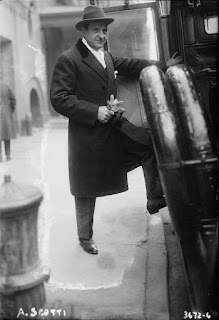A dapper Antonio Scotti pictured in New  York in 1915 at the height of his fame