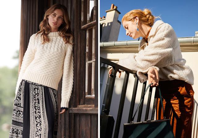 Белый свитер с мягкой текстурой с юбкой