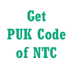 How to get PUK Code of NTC Mobile Number?