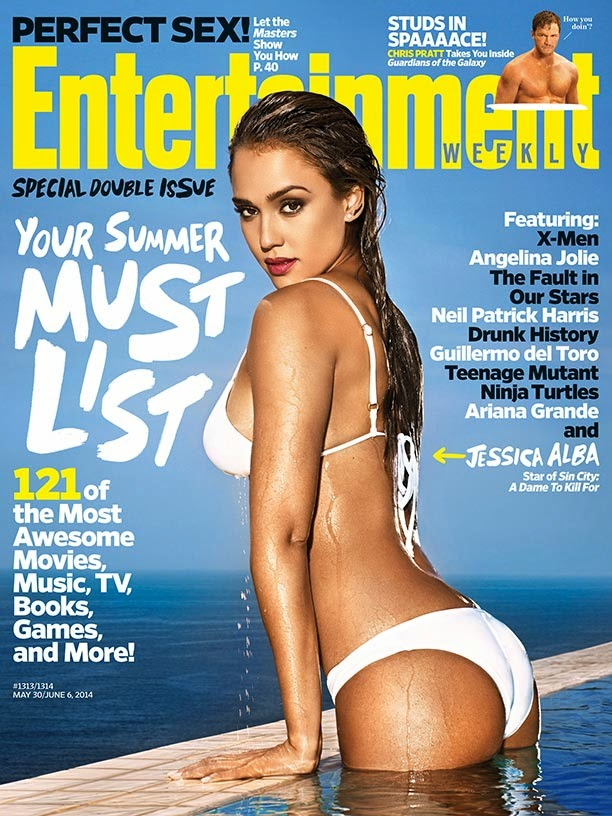 Jessica Alba covers Entertainment Weekly in a white bikini