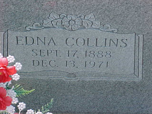 Tombstone Tuesday: Edna (Lock) Collins