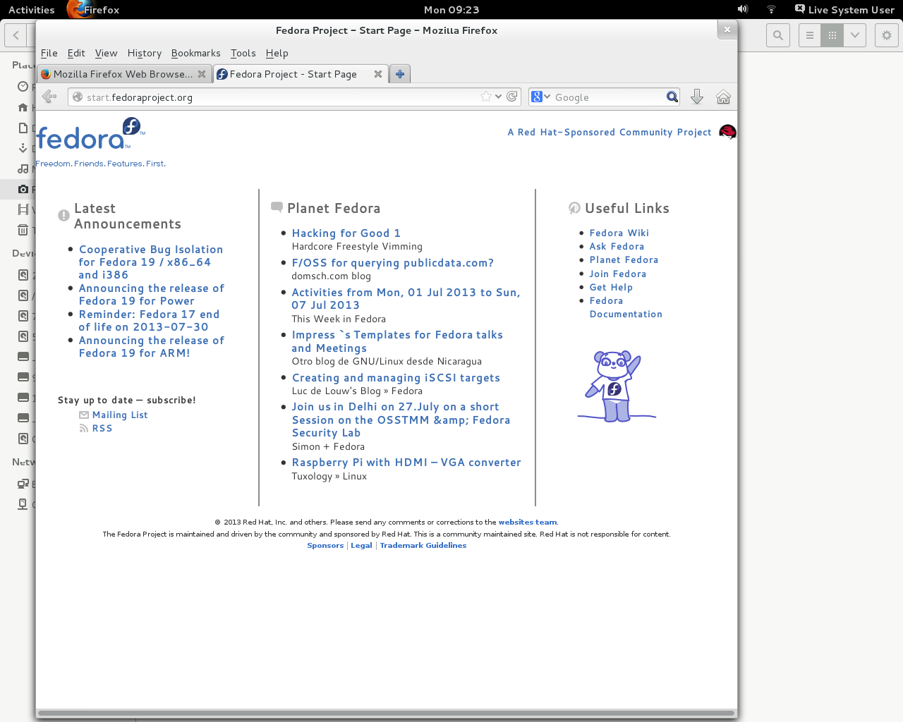 Linux, BSD, and everything else   : Fedora 19 - Of Schroedingers Cat