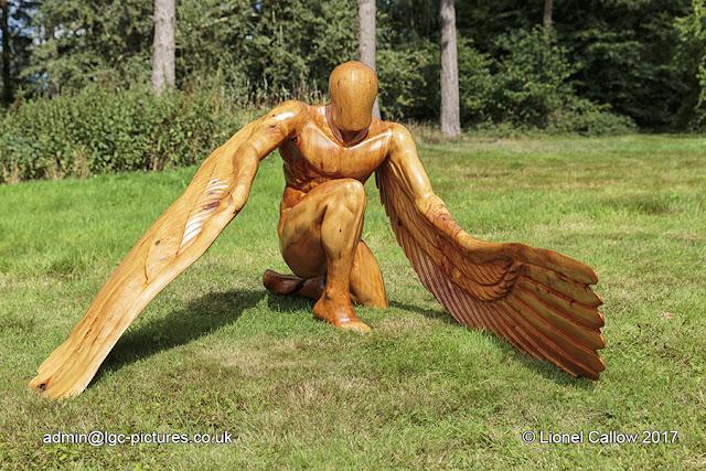 Wood sculpture by Ed Elliott