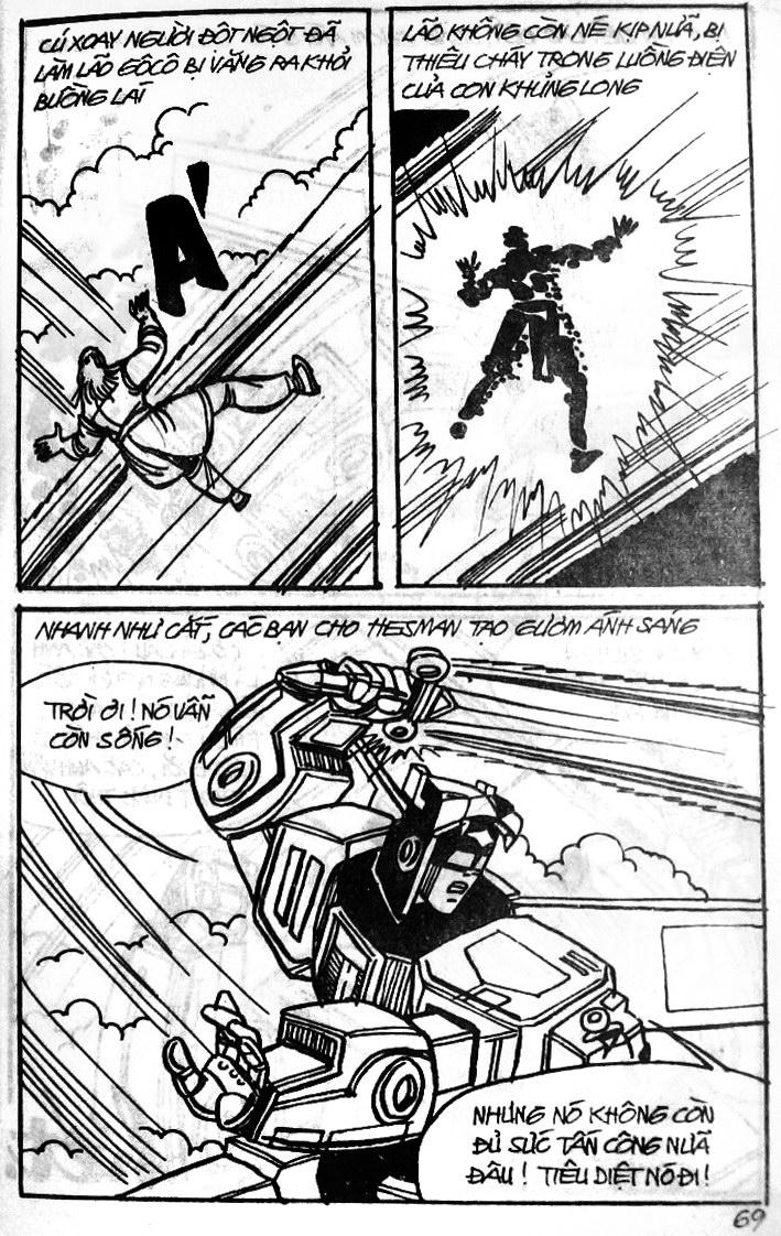 Dũng Sĩ Hesman tập 121 - chạy trốn tử thần trang 68
