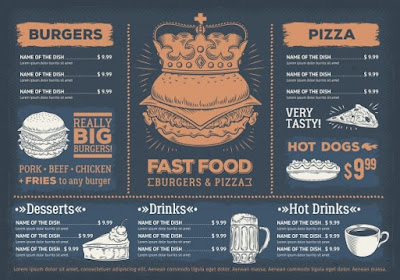 bảng menu quán cafe