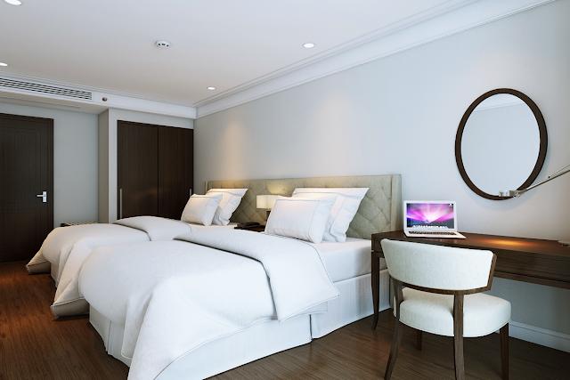 Phòng ngủ căn hộ mẫu chung cư Luxury Apartment
