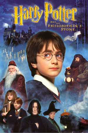Poster Of Harry Potter and the Sorcerer's Stone 2001 In Hindi Bluray 1080P HEVC Free Download