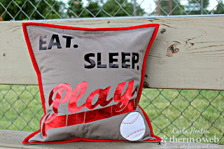 diy baseball pillow tutorial and pattern