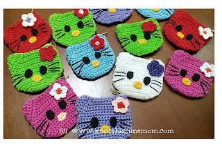 Crochet Hello Kitty Coin Purse