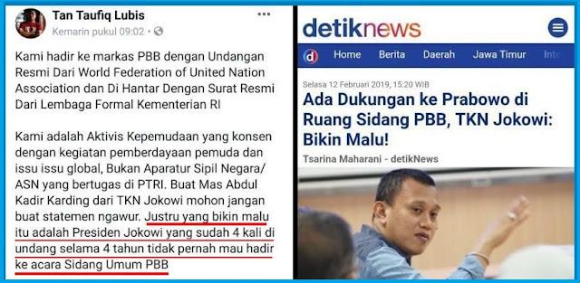 Disebut Bikin Malu, Aktivis Pendukung Prabowo di Markas PBB Sindir Jokowi