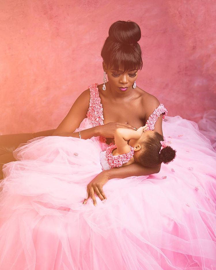Nigerian Mum Daughter And Doll Wear Matching Outfits In
