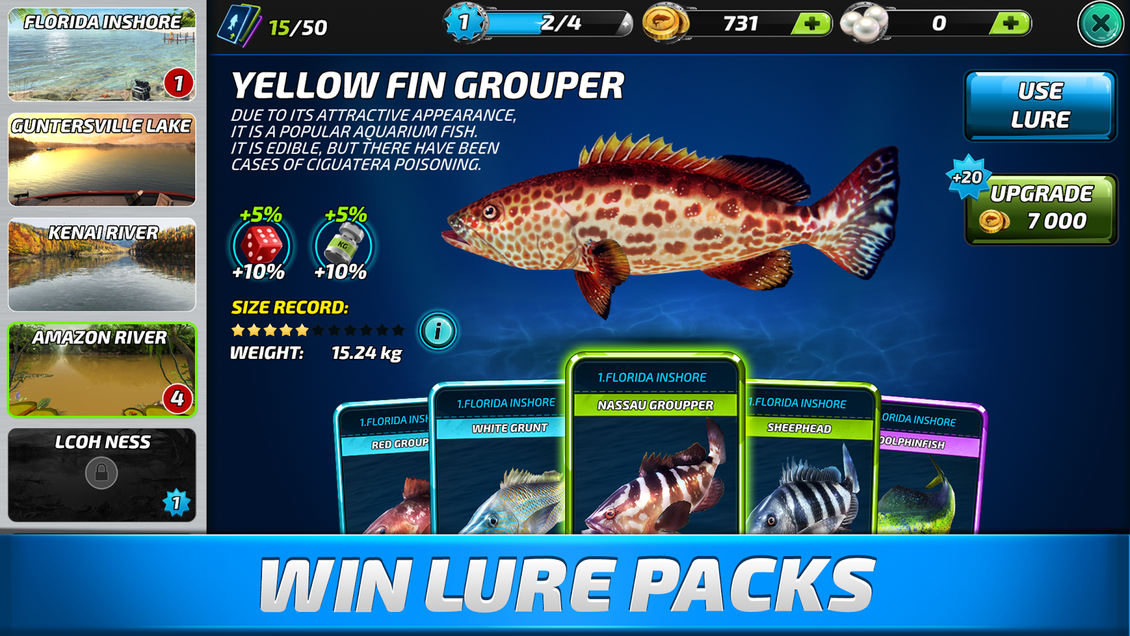 Fishing clash catching fish game bass hunting 3d mod apk for Game fish