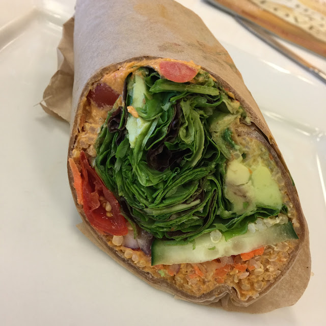 Quinoa wrap at Baagan in San Ramon