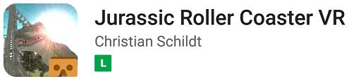 Jogo Jurrasic Roller Coaster VR
