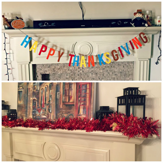 Friendsgiving Mantel Decorations