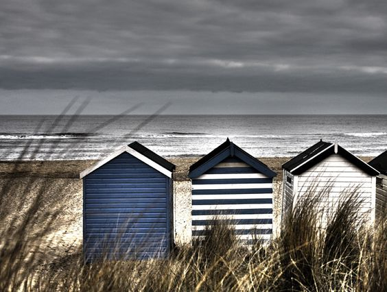 Coastal style stormy seas for Beach hut style
