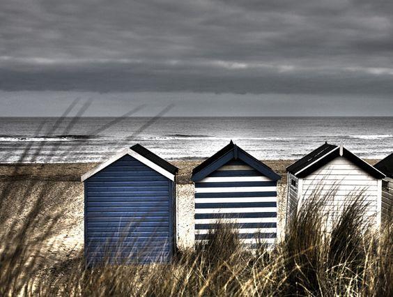 Coastal style stormy seas for Beach hut style