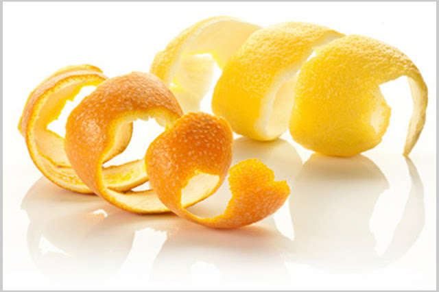 Orange peel for teeth whitening