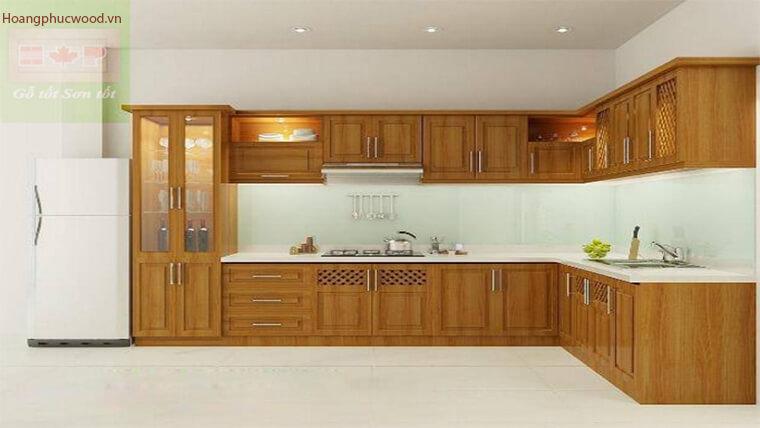 Thiết kế phòng bếp mẫu chữ L