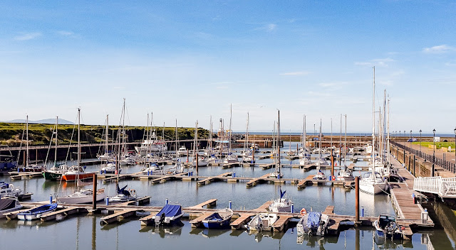 Photo of the sun shining on Maryport Marina