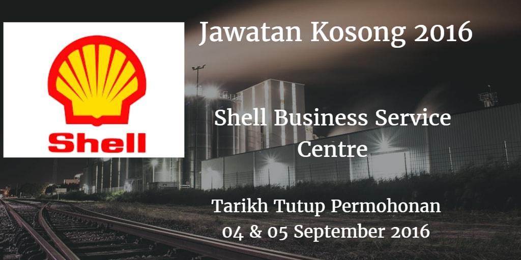 Jawatan Kosong Shell Business Service Centre 04 & 05 September 2016