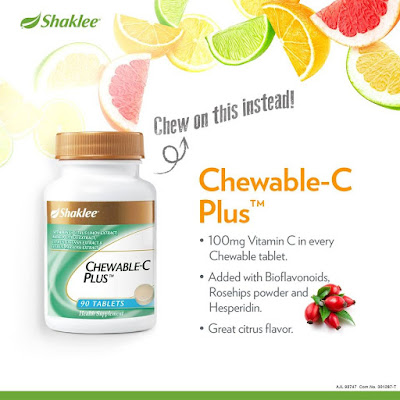 Keistimewaan Chewable-C Plus Shaklee