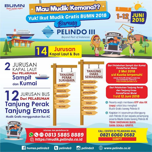 Cara Daftar Mudik Gratis 2018 dari Pelindo III