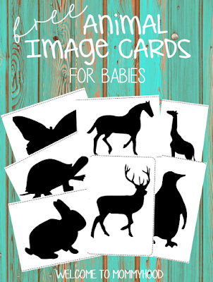 Infant activities: free animal image cards for newborns (Montessori inspired) by Welcome to Mommyhood #infantactivities, #activitiesforbabies, #freeprintables, #montessori
