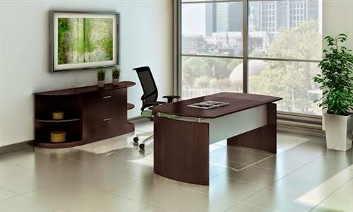 Mayline Mocha Desk
