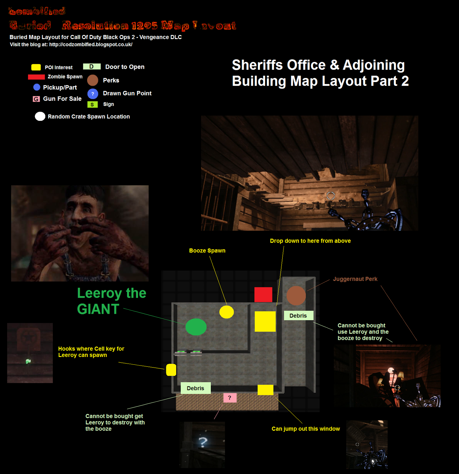 Call Of Duty Zombie Map Layouts, Secrets